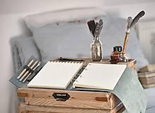 Papiernictvo - Kombinovaný kožený zápisník NATHAN - 10487926_
