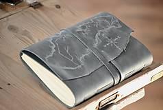 Papiernictvo - kožený cestovateľský denník SLOVAKIA - 10488010_