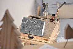 Papiernictvo - kožený cestovateľský denník SLOVAKIA - 10488020_