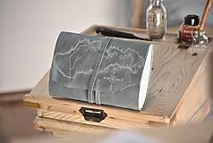 Papiernictvo - kožený cestovateľský denník SLOVAKIA - 10488021_