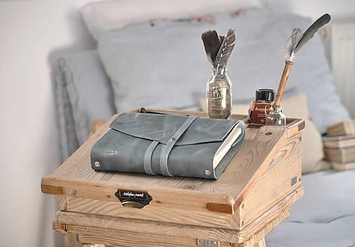 Kombinovaný kožený zápisník NATHAN