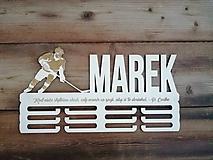 Iné doplnky - Drevený vešiak na medaily_Hokej - 10488724_