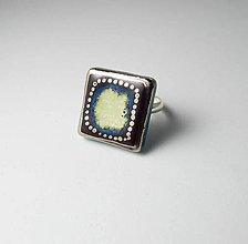 Prstene - Tana šperky - keramika/platina - 10488703_