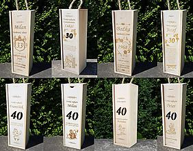 Dekorácie - Vínová krabica vyrábam na mieru - 10487652_