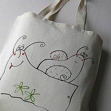 Nákupné tašky - ŠNEČÍ LÁSKA - nákupní taška - 10490231_