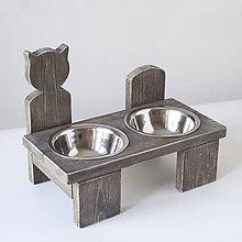 Pre zvieratká - Stolík na misky - 10488340_