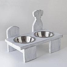 Pre zvieratká - Stolík na misky pre psíkov - 10488855_