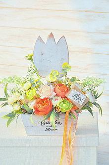 Dekorácie - dekorovaný tulipán kochlík - 10486407_