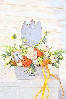 Dekorácie - dekorovaný tulipán kochlík - 10486411_