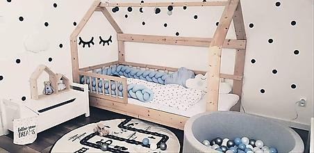 Detské doplnky - Modrák, zapletaný mantinel do postieľky alebo postele, viac farieb, dĺžka 50-500cm - 10486958_