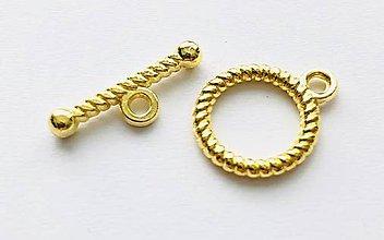 Komponenty - ZAP6819, ZAPÍNANIE americké 13x16mm /1ks (Zlatá) - 10487847_