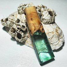 Náhrdelníky - Modrý šperk - 10486455_