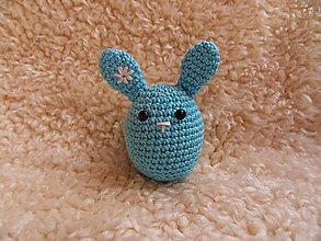 Dekorácie - Veľkonočný zajačik - vajíčko :-) (Modrá) - 10486984_