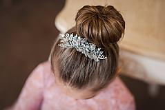 Ozdoby do vlasov - Strieborný hrebienok