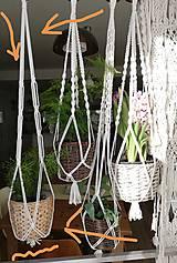 Dekorácie - Macrame držiak na kvetináč 83cm - 10488990_