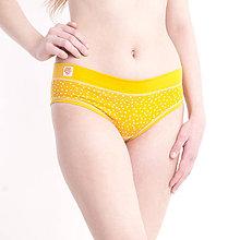 Bielizeň/Plavky - Nohavičky bez gumičky z bio bavlny GOTS - žlté - 10489145_