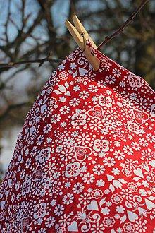 Úžitkový textil - Voskované vrecko Vreckáč 17x17cm (tousťák) (Ľudovíta) - 10488214_