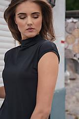 Šaty - Rovné šaty s bočnými vreckami BLACK & WHITE COLLECTION - 10489156_