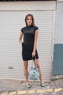 Šaty - Rovné šaty s bočnými vreckami BLACK & WHITE COLLECTION - 10489151_