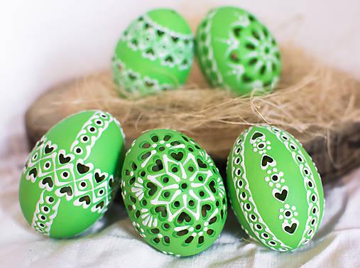 Dekorácie - slepačie kraslice zelené - 10488047_