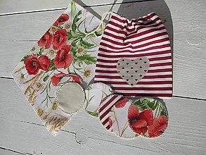 Úžitkový textil - Maková sada odličovacích tampónov - 10486824_