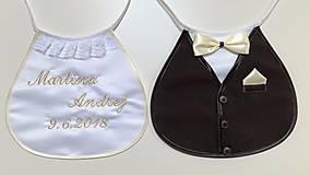 Iné doplnky - Svadobné podbradníky Sme svoji šampaň - 10490144_