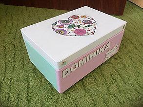 Detské doplnky - Krabica spomienok pastel - 10486945_