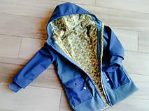 Detské oblečenie - Detská prechodná bunda modrá - 10486796_