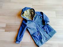 Detské oblečenie - Detská prechodná bunda modrá - 10486798_