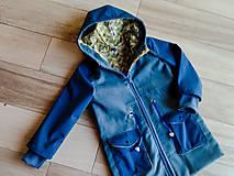 Detské oblečenie - Detská prechodná bunda modrá - 10486800_