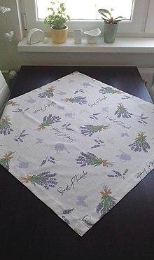 Úžitkový textil - Obrusy - kvetové     štvorce (Levandulový) - 10487623_