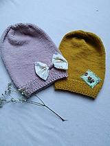Detské čiapky - Detské čiapočky - merino extra fine - 10486603_