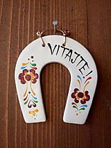Tabuľky - podkovička na dvere / VITAJTE - 10489538_