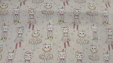 Textil - Detská... mačičky š.140cm - 10489174_