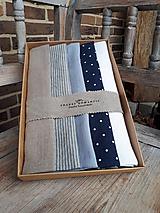 Úžitkový textil - Darčeková sada Linen Towels Classic - 10488206_