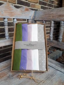 Úžitkový textil - Darčeková sada Linen Towels Fresh - 10488267_