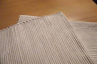 Úžitkový textil - Tkané biele koberce - 2 ks - 10490142_