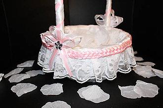 Košíky - Košík pre družičku - ružový - 10491727_