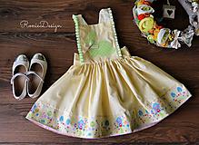 sukňa zásterková (veľkonočná žltá so zajkom)