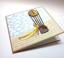 Papiernictvo - Pohľadnica ... preletíme svet - 10492217_