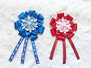 Detské doplnky - Kvet na kočík 6 (Modrá) - 10491126_
