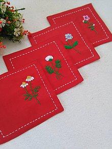 Úžitkový textil - Lúčne (podtácky) - 10493143_