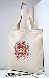 Nákupná taška-Červená mandala