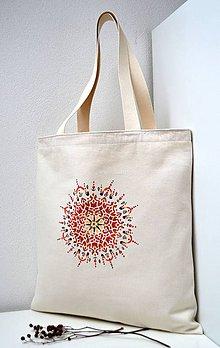 Nákupné tašky - Nákupná taška-Červená mandala - 10491189_