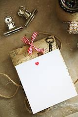 Vintage prianie s obálkou