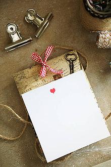 Papiernictvo - Vintage prianie s obálkou - 10492382_