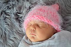 Detské čiapky - Pletená čepička