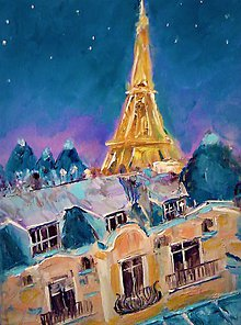 Obrazy - Paris at night - 10492478_