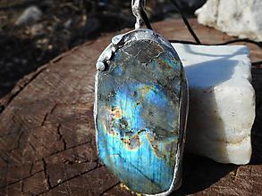 Náhrdelníky - blue labradorita - 10493031_