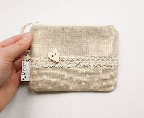Peňaženka/dokladovka - Čisté srdce ♥